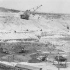 На строительстве Лебединского рудника, 1982 г.  ГАНИБО.Ф.2080.Оп.9.Д.34.Е-3в